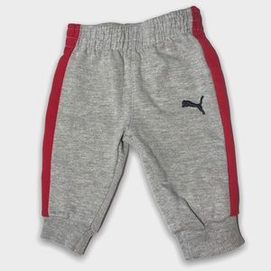 Puma Gray Red Stripped Cotton Joggers